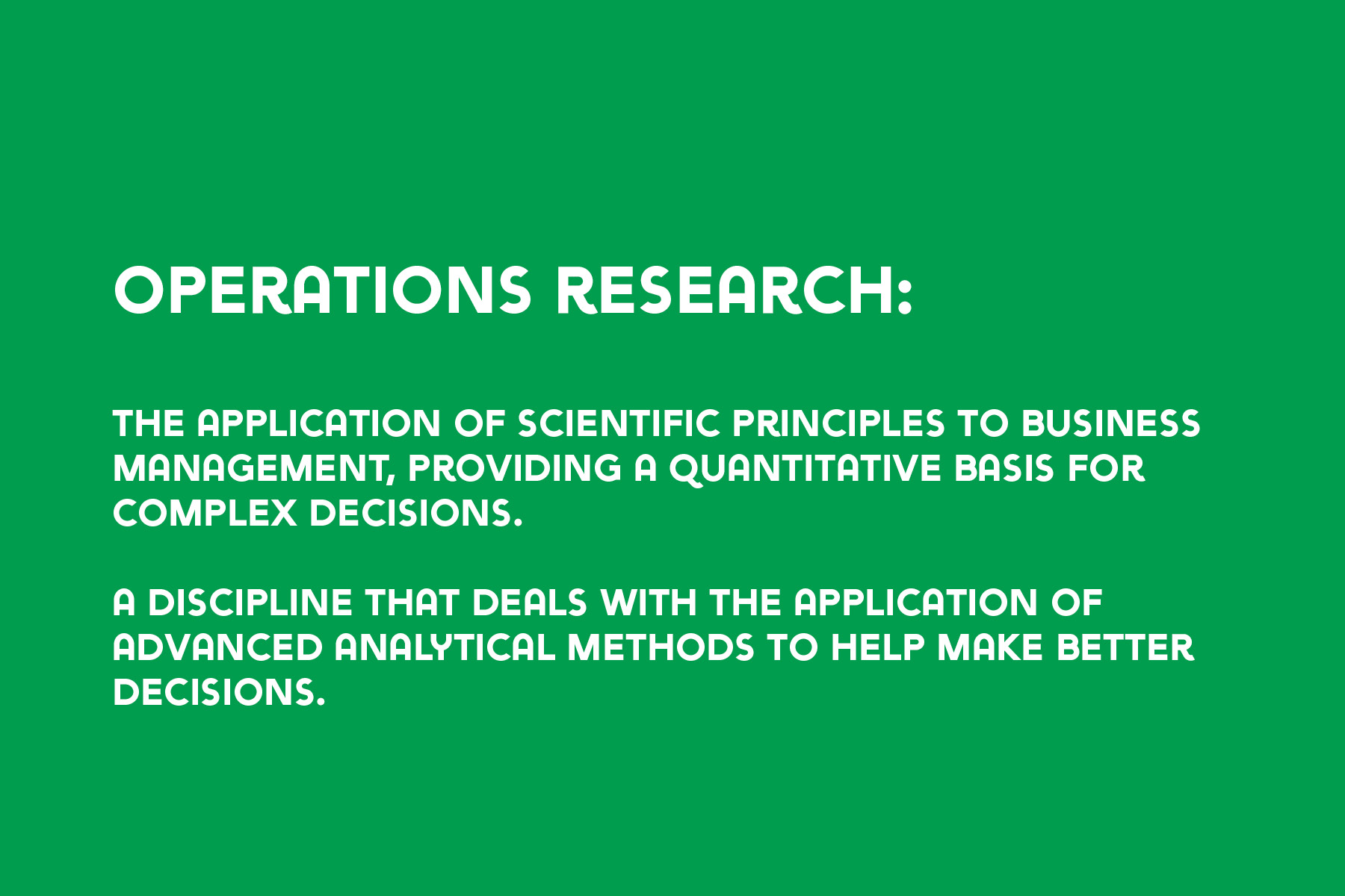 Operations Research definition