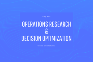 Operations Research and Decision Optimization