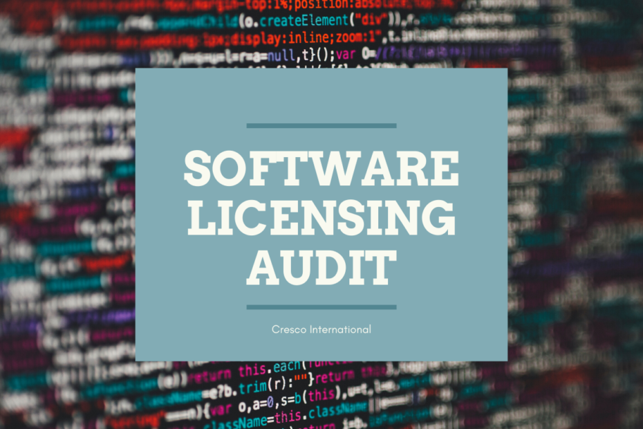Software Licensing Audit
